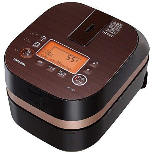 東芝 IHジャー炊飯器(2.5合炊き) グランブラウンTOSHIBA 備長炭かまど本羽釜 RC-4ZPJ-T
