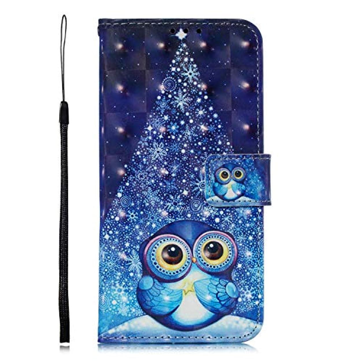 未使用ぼろ説教OMATENTI Galaxy J6 Plus 2018 ケース, ファッション良質 PU レザー 財布型 ケース 薄型 人気 新製品 衝撃吸収 全面保護 スマホケース, 付きスタンド機能, カードホルダー機能 ストラップ付き Galaxy J6 Plus 2018 用 Case Cover, 鳥