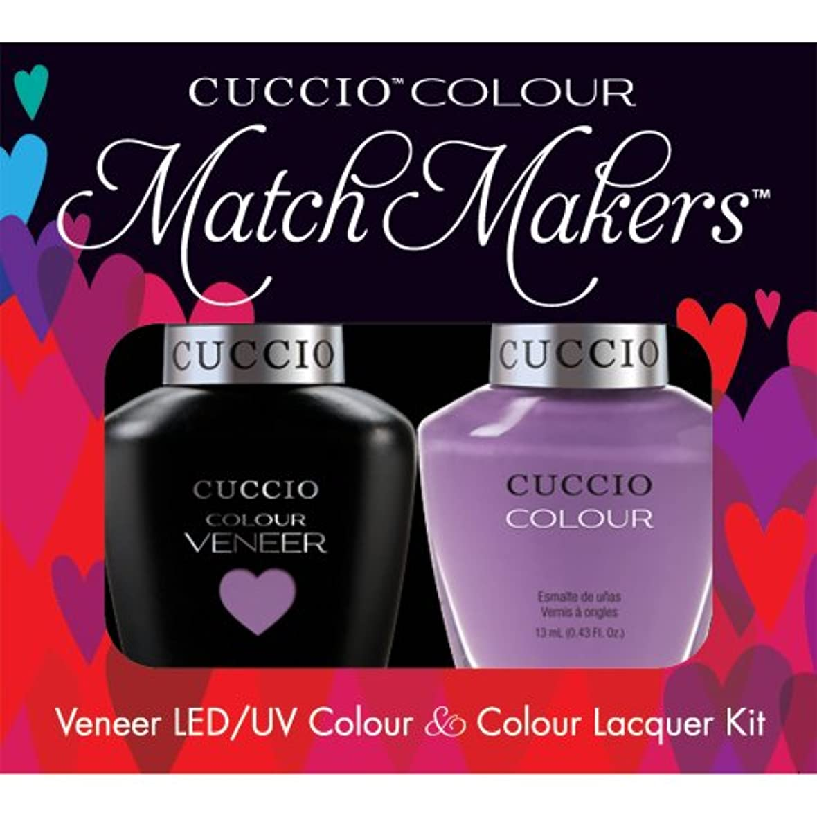 廃棄トリクル委任Cuccio MatchMakers Veneer & Lacquer - Cheeky in Helsinki - 0.43oz / 13ml Each