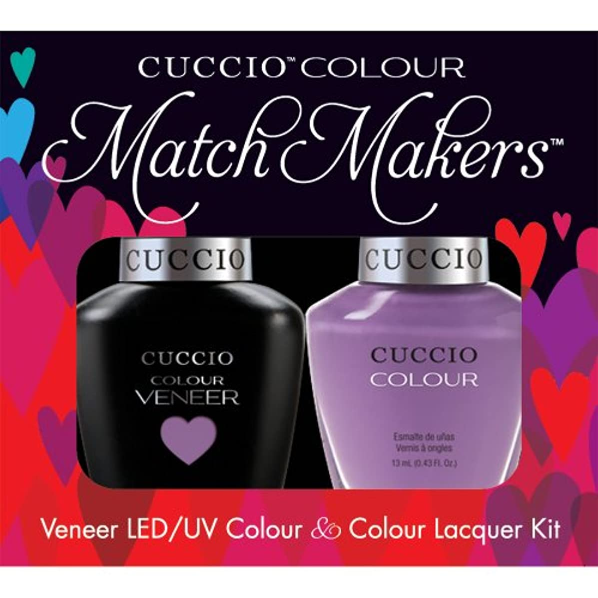 リング若者火曜日Cuccio MatchMakers Veneer & Lacquer - Cheeky in Helsinki - 0.43oz / 13ml Each