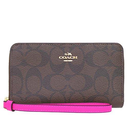 [コーチ] COACH 財布 (二つ折り財布) F57468 ブラウン×ブライトフューシャ IMMJJ シグネチャー 二つ折り財布 レディース [アウトレット品] [並行輸入品]