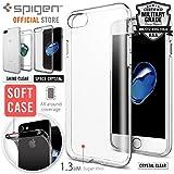 【Spigen】 スマホケース iPhone8 Plus ケース / iPhone7 Plus ケース 対応 TPU 超薄型 超軽量 リキッド・クリスタル 043CS20960 (シャイン・ピンク)