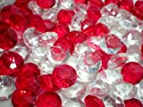 アクリルアイス ダイヤモンド 蛍光クリア ゴージャスミックス(2kg)  / お楽しみグッズ(紙風船)付きセット