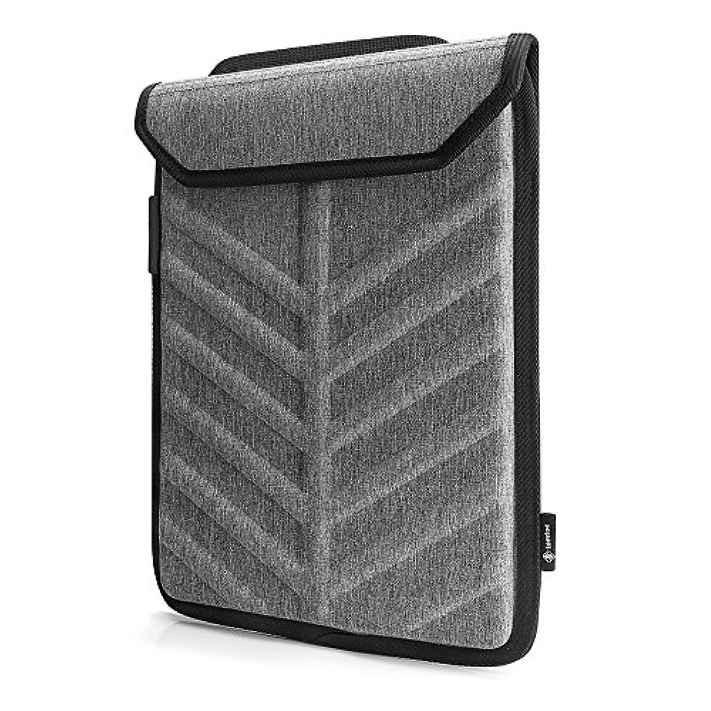 意外君主制静脈tomtoc ハードシェル ラップトップスリーブ 13.3インチ 旧型 MacBook Air | 13インチ MacBook Pro Retina 2012-2015 | 13.5インチ Surface Laptop | 12.9インチ iPad Pro 対応、ノートパソコン ハード 保護ケース カバー スリム インナーケース、撥水加工、グレー