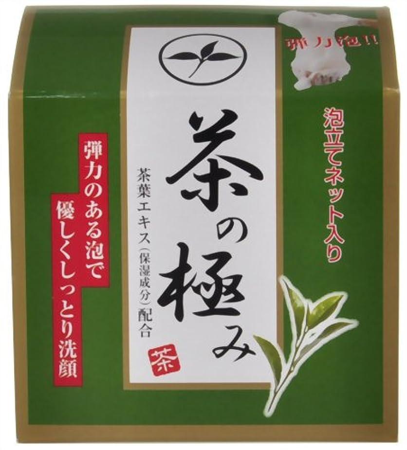 削るグローブ量で茶の極み 洗顔石けん 90g