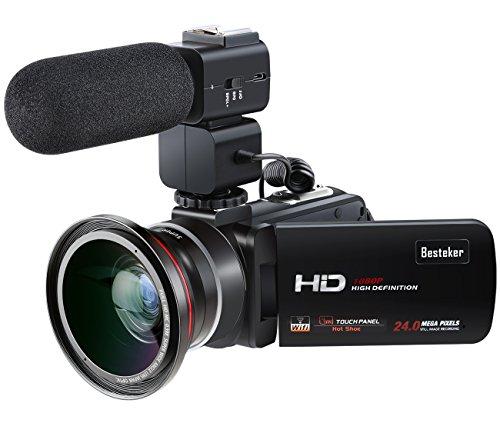 ビデオカメラ Besteker ポータブルビデオカメラ HD...