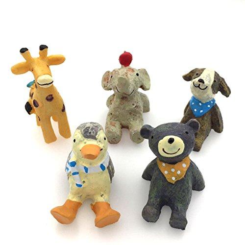 ceciI 6pcs-set、クリエイティブ装飾品、Microホーム装飾、もfor the Flower Pot Decorate ( Includingキリン* 1、犬* 1、うさぎ* 1、Bear * 1、Elephant * 1、ペンギン* 1) CECII