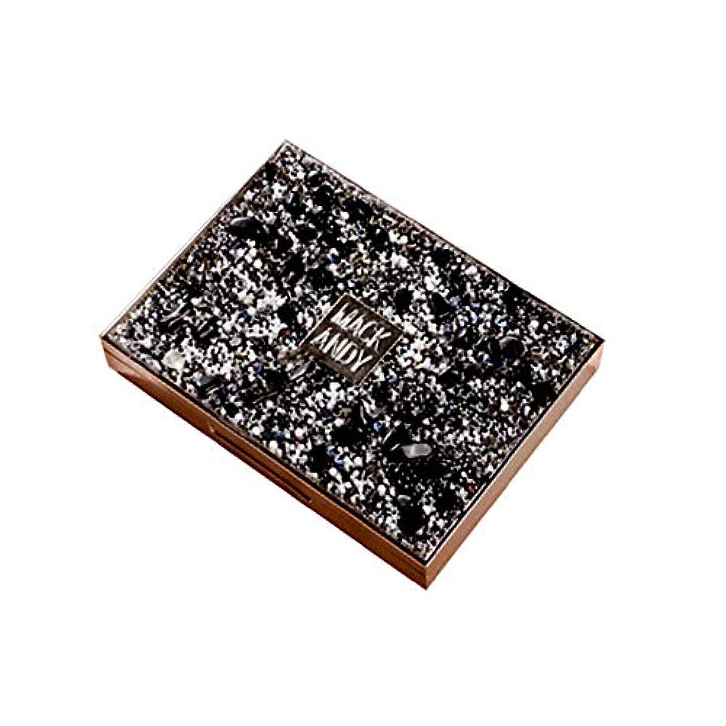 写真の伝導率イデオロギーEX-YUE 8色 アイシャドウ 人気 新作 極め細かい 真珠 光沢 アイシャドウパレット ハイライト ナチュラル マット 高発色 保湿成分 長時間 防水 大人気 通勤 通学 初心者 日常化粧 (ブラック)