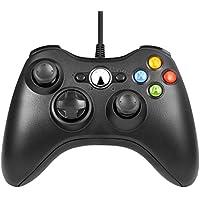 xbox 360コントローラー,Diswoe ゲームパッド USB ゲームコントローラー Microsoft Xbox&Slim 360 PC Windows 7適用 (ブラック)