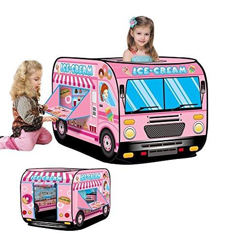 JINYJIA アイスクリームかー子供用テント、室内屋外 防...