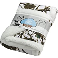 Baby Snow Forest Soft Poly fleece Sherpa Blanket 30 X 42 by TrailCrest