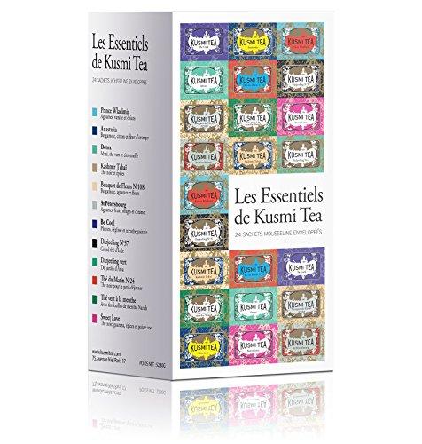 KUSMI TEA クスミティー エッセンシャルセットA ティバッグ 24袋 [正規輸入品]