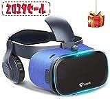 VeeR 3D VRゴーグル VRヘッドセット ヘッドホン付き 3D動画 ゲーム 映画 4.7~6.3インチ iOSアンドロイドiPhone x 6/7/8 plus HUAWEI HTC 全スマホ機種対応 クリスマスプレゼント