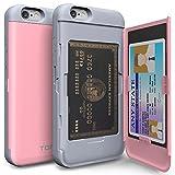 iPhone6s ケース「iPhone6 ケース」手帳型「人気」耐衝撃「カードホルダー」suica「衝撃吸収」ミラー「TPUxプラスチック」スタンド「アイフォン6sケース」アイフォン6ケース「スマホケース」おしゃれ- ベビーピンク「TORU」