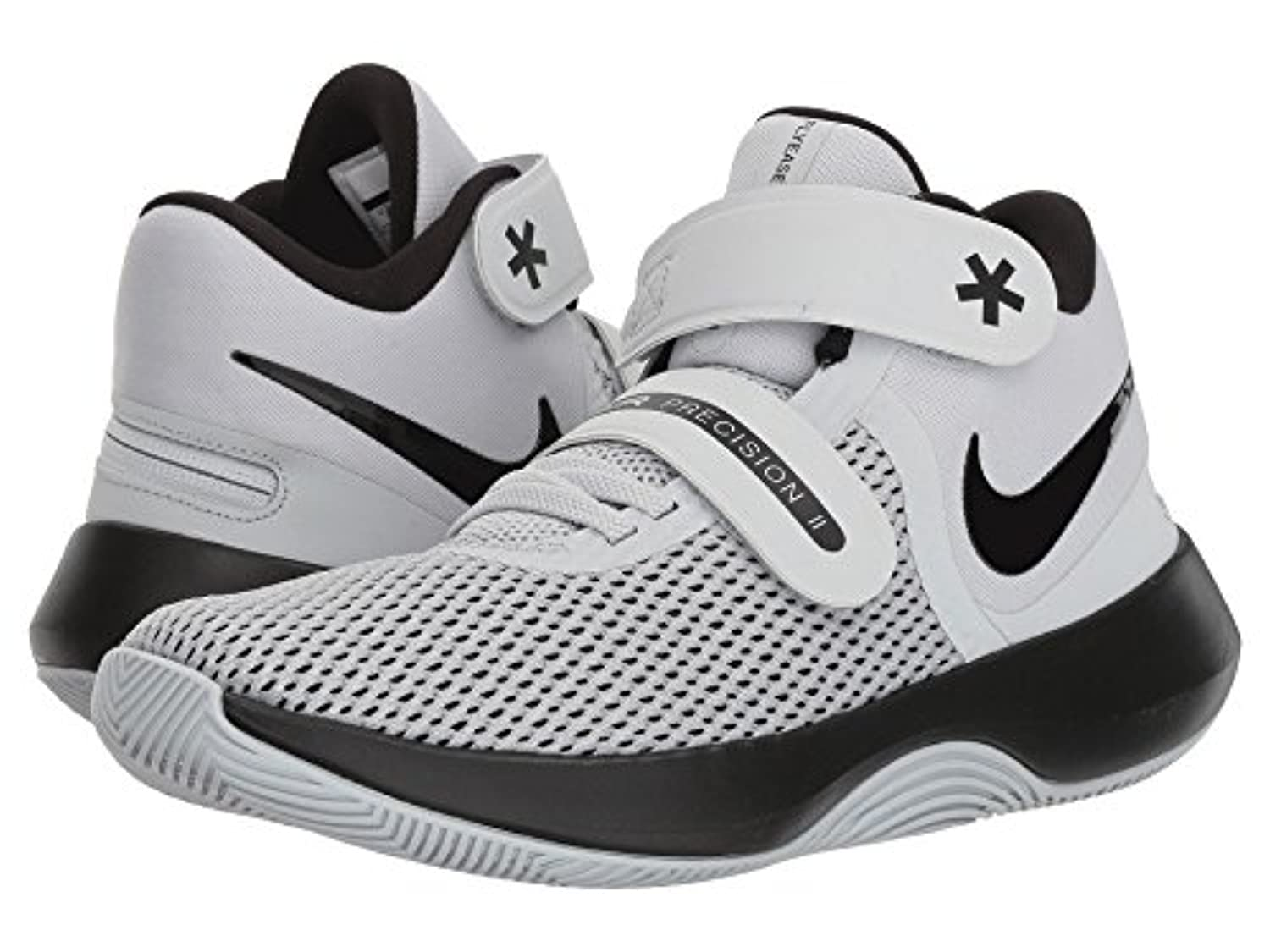 [NIKE(ナイキ)] レディーステニスシューズ?スニーカー?靴 Air Precision II FlyEase White/Black/Volt 6.5 (23.5cm) 4E - Extra Extra Wide