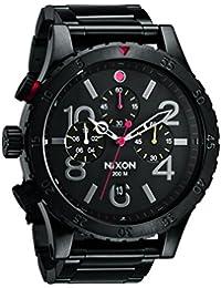 NIXON ニクソン a4861320 THE 48-20 CHRONO ブラック マルチカラー ユニセックス クロノ メンズ 腕時計 48ー20 a486-1320 [並行輸入品]
