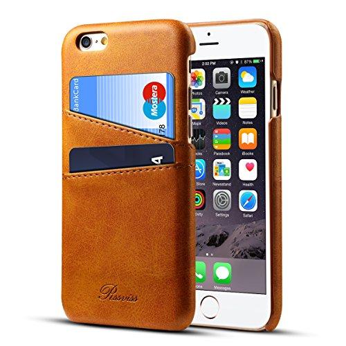iPhone6s Plus ケース カード収納 Rssviss レザー 防指紋 軽量 アイフォン6s プラス カバー iphone6plus ケース (iPhone6s / iPhone6 Plus) レトロブラウン【5.5 インチ】