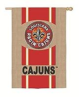 Team Sports America University of Louisiana Ragin ' Cajuns黄麻布家フラグ、29x 43cm