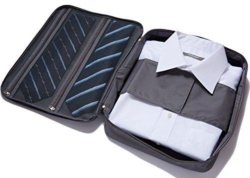 Smart Worker(スマートワーカー) シワにならない ワイシャツケース 出張 旅行便利グッズ 防水 コンパクト で 持ち運び簡単 !! ワイシャツ 旅行用 4日 収納ケース ガーメントケース 旅行バッグ整頓 旅行セット グレー