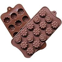 blisscomdepクリアランス3dシリコンローズフラワーチョコレートベーキング金型ケーキキャンディDIY Fondant Mould 400809XC12Q1MZUJVK