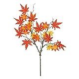 MAGIQ 東京堂 上質な 造花 メイプルスプレー #レッド FG006042-003