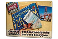 カレンダー Perpetual Calendar Travel Kitchen G. Huber San Francisco California Tin Metal Magnetic