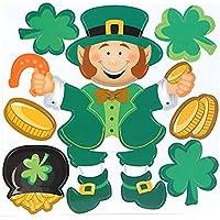 Lucky Irish Leprechaunコメツブツメクサパズルマグネット冷蔵庫車ドア装飾