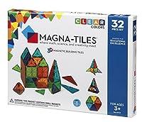 Magna-Tiles Clear Colors 32-pc Set [並行輸入品]