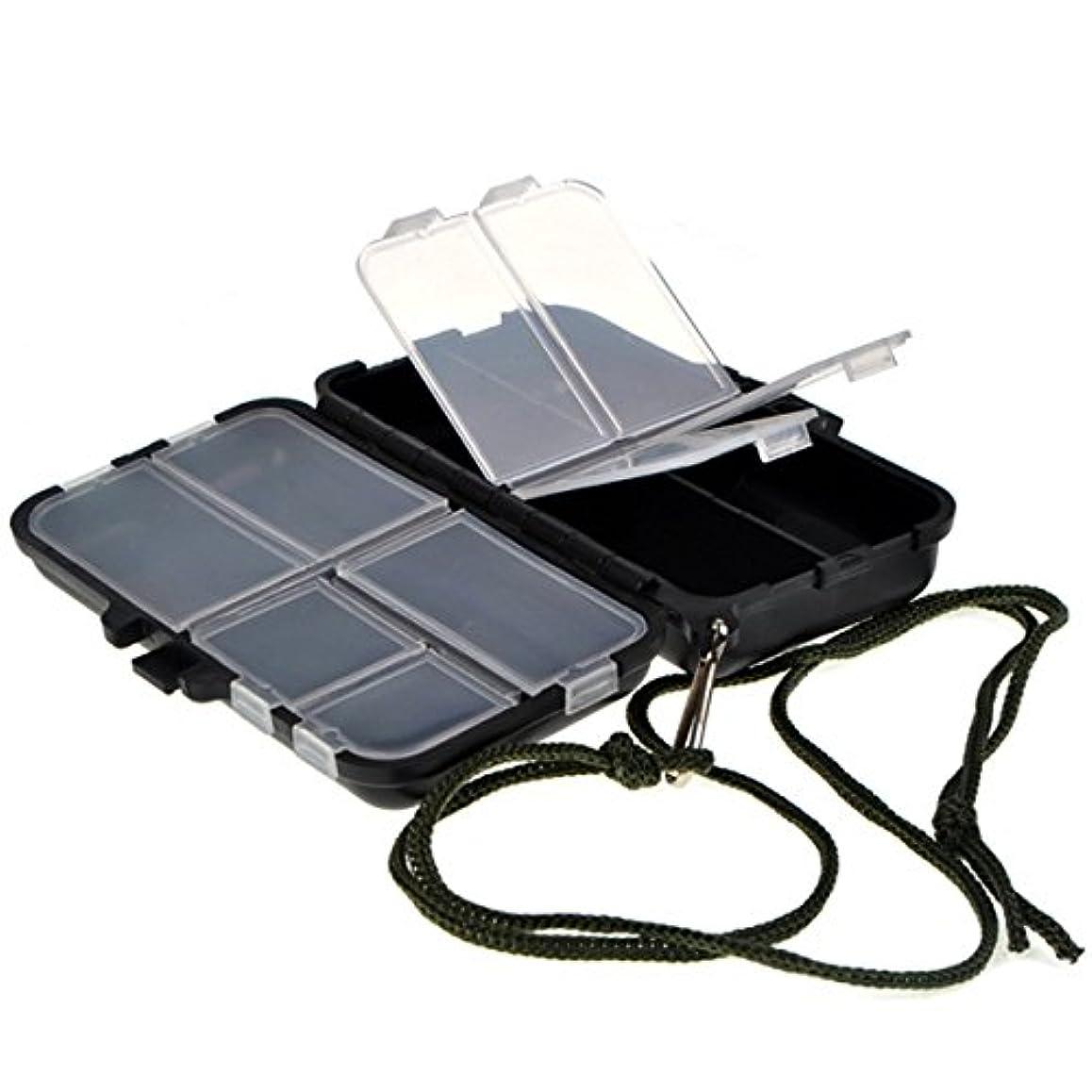 掘る見て宣教師Bininbox Smallサイズタックルボックス9コンパートメント防水ブラックライト重量タックルストレージボックスケース