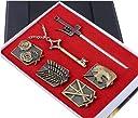 進撃の巨人(しんげきのきょじん attack on titan)コレクション用バッジ ペンダント 武器 6点セット コスプレ道具 Ruleronline