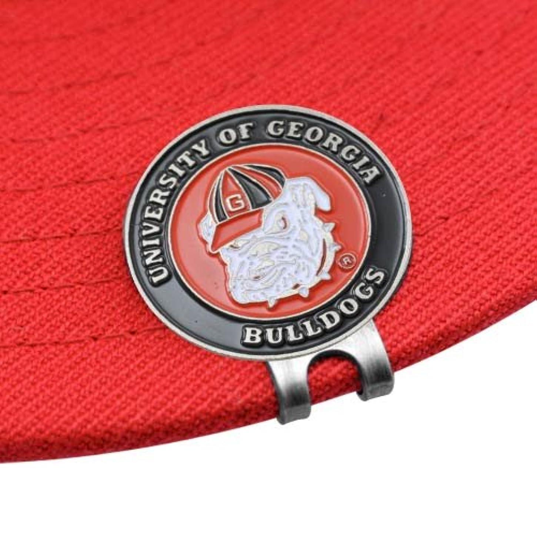 前売マイコン紫のGeorgia Bulldogsゴルフボールマーカー&クリップセットbyチームゴルフ