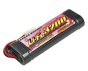 Li-Feバッテリー EA3200/6.6V 40C+α・ハードショットガンチューブ仕様 3696V2