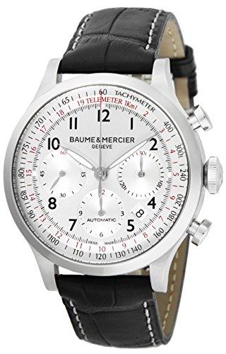 [ボーム&メルシエ]BAUME & MERCIER 腕時計 CAPELAND シルバー文字盤 自動巻 クロノグラフ デイト MOA10046 メンズ 【並行輸入品】