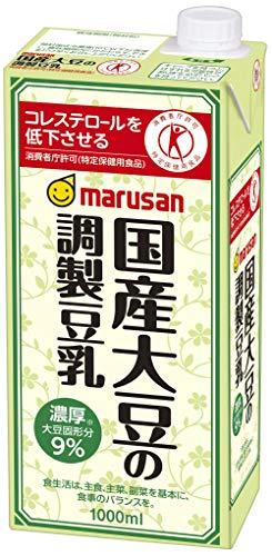 マルサン 国産大豆の調製豆乳 1000ml ×6本