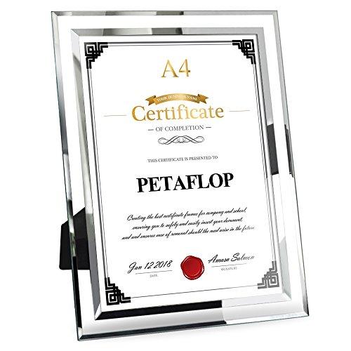 フォトフレーム a4 賞状額 ガラス おしゃれ 写真立て 卒業証書 表彰状 額縁 PETAFLOP PETAFLOPS IMP A4CH180315