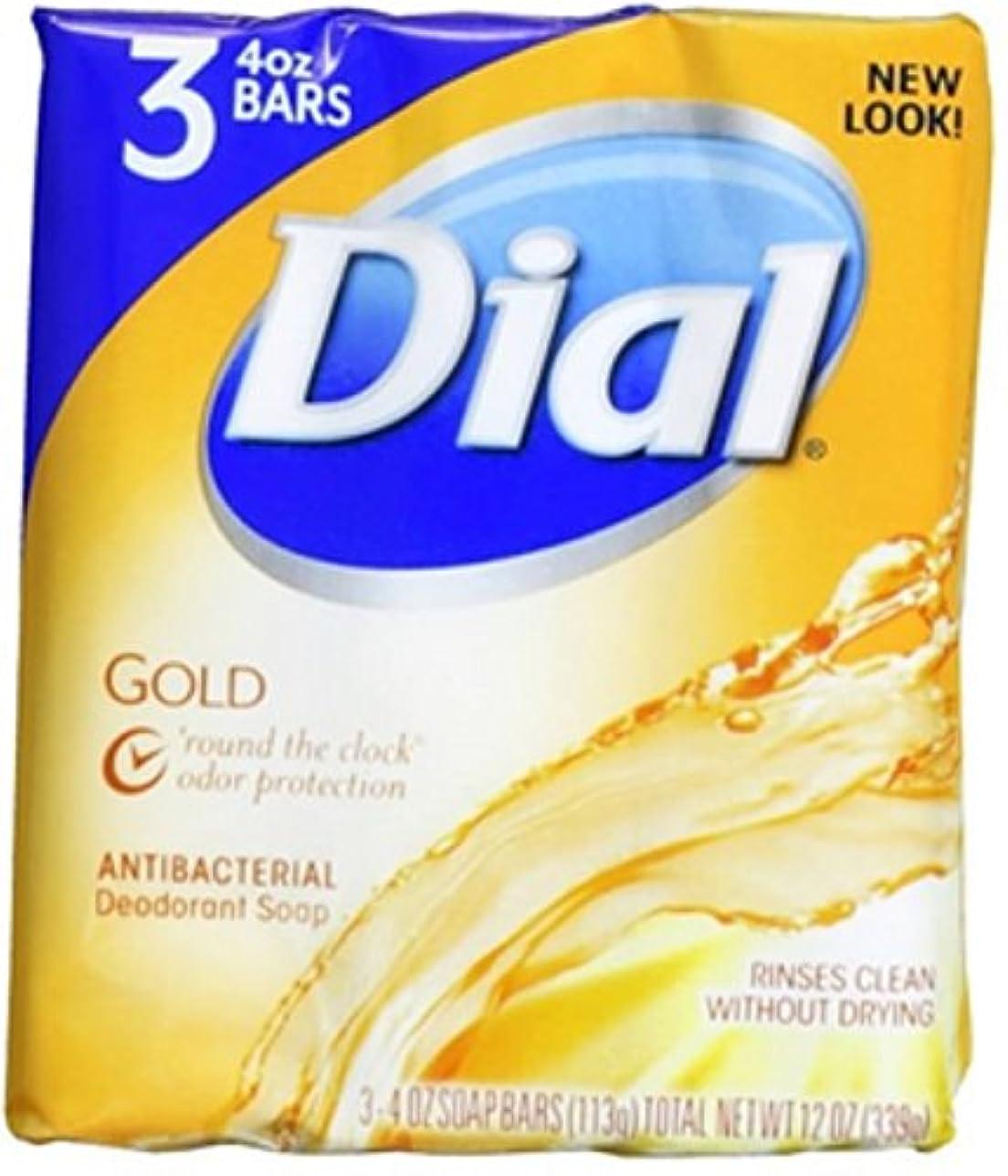 でるパプアニューギニアアスペクトDial 抗菌消臭石鹸バー、ゴールド、4つのオズバー、3 Eaは(6パック)