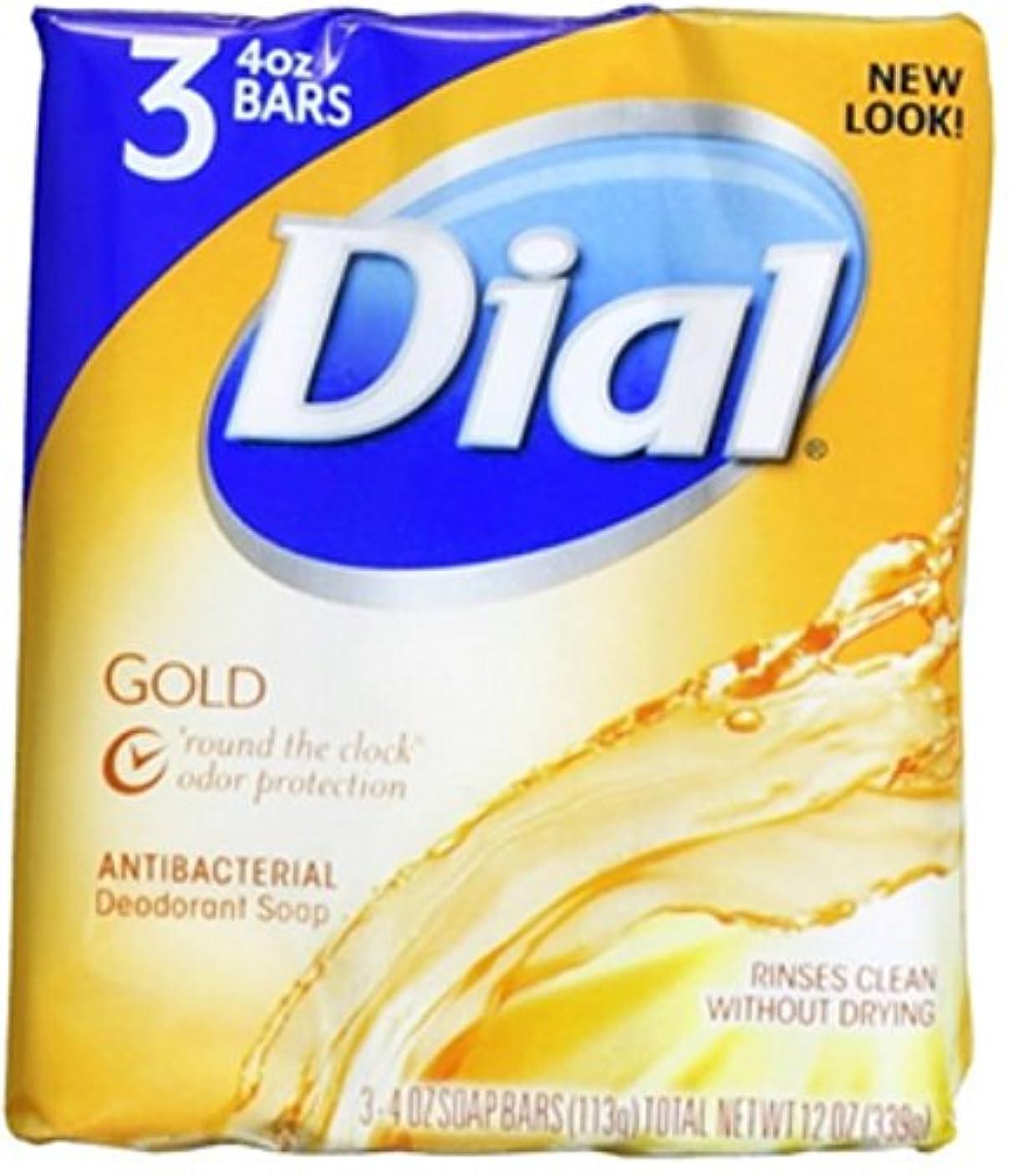 包括的が欲しいトーストDial 抗菌消臭石鹸バー、ゴールド、4つのオズバー、3 Eaは(6パック)