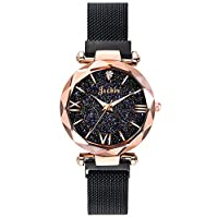 Jechin Fashion Women's Starry Sky Watch Magnetic Buckle Bracelet Dress Watches