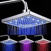 シャワーアクセサリー LEDシャワーヘッド 3色の温度センサーオーバーヘッドシャワーヘッド