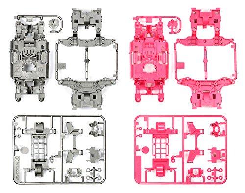 タミヤ ミニ四駆特別企画商品 MSカラーシャーシセット シルバー・ピンク 95235