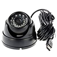 ELP 3.6mm 1080P Dome Camera with IR LED Night Vision HD Webcam [並行輸入品]