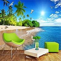 Zwlbp カスタム写真壁紙3D海辺の風景自然壁画寝室リビングルームテレビソファの背景壁画-280X200Cm