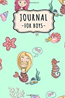 Journal Notebook for Boys: Mermaid Lined Daily 6x9 Journal / Notebook for Boys | 109 Pages
