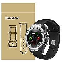 Lamshaw Ticwatch Pro バンド, スポーツ シリコン 交換バンド 柔らか運動型 対応 Ticwatch Pro スマートウォッチ 腕時計 (ブラック)