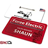 Shaun of the Dead Foree Electric Name Badge w/Bar Pin (Blood Splat Variant) by EpicIDs [並行輸入品]