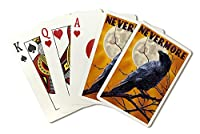 Nevermore – Raven And Moon ( Playingカードデッキ – 52カードPokerサイズwithジョーカー)