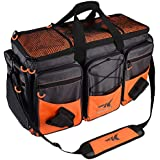 KastKing Fishing Tackle Bags - 3600 & 3700 Plastic Storage Tackle Boxes - Saltwater & Freshwater - Rip-Stop Nylon - Padded Shoulder Strap - Plier Storage - Self-Healing Zippers - Molded Bottom