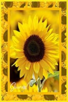 Journal: Sunflower Yellow Flowers Notebook For Girl And School College Ruled Notes Blank Paper 120 pages