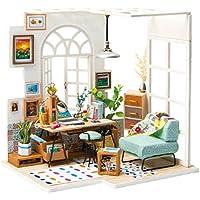 Rolife QLCRAFT DIY リビングルーム ミニチュア ドールハウス 家具とアクセサリー付き