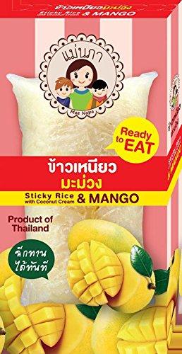 ココナッツで味付けしたもち米 とマンゴー(タイのデザート) ...
